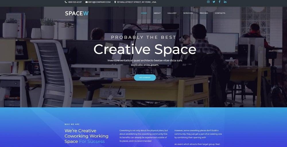 Spacew - Business Multipurpose Modern Elementor WordPress Theme