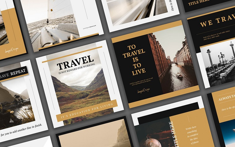 Travel Social Media Template.