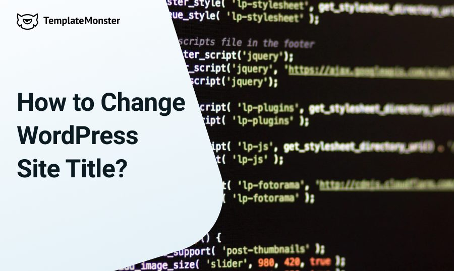 change wordpress site title