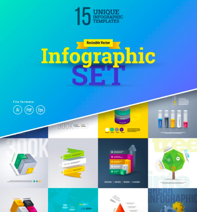 3D Business Infographics Set-01 Infographic Elements