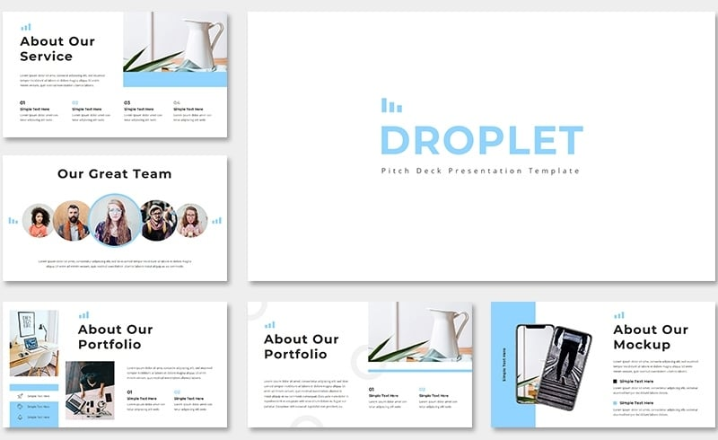 Droplet Pitch Deck Keynote Template