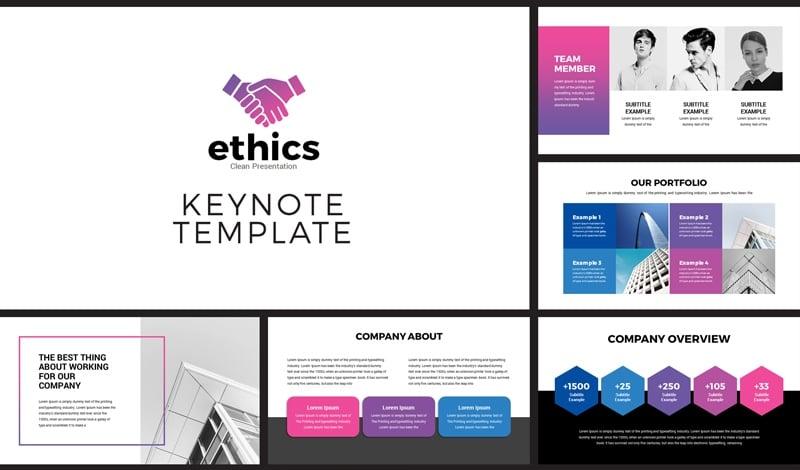 Modern Business Presentation Keynote Template