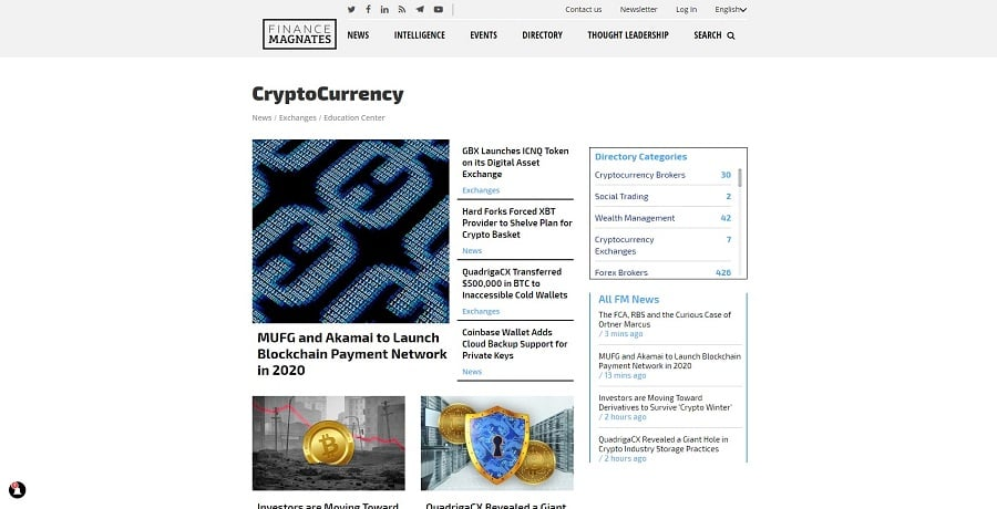 Finance Magnates, Cryptocurrency