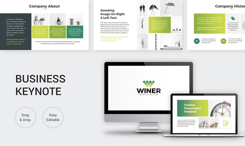 Green Creative Business Keynote Template
