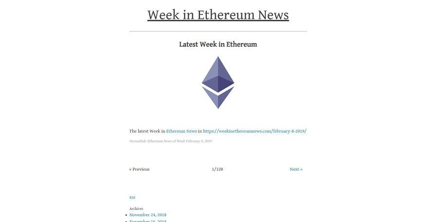 Week in Ethereum