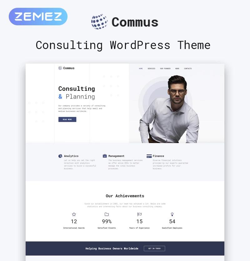 Commus - Business Multipurpose Minimal Elementor WordPress Theme