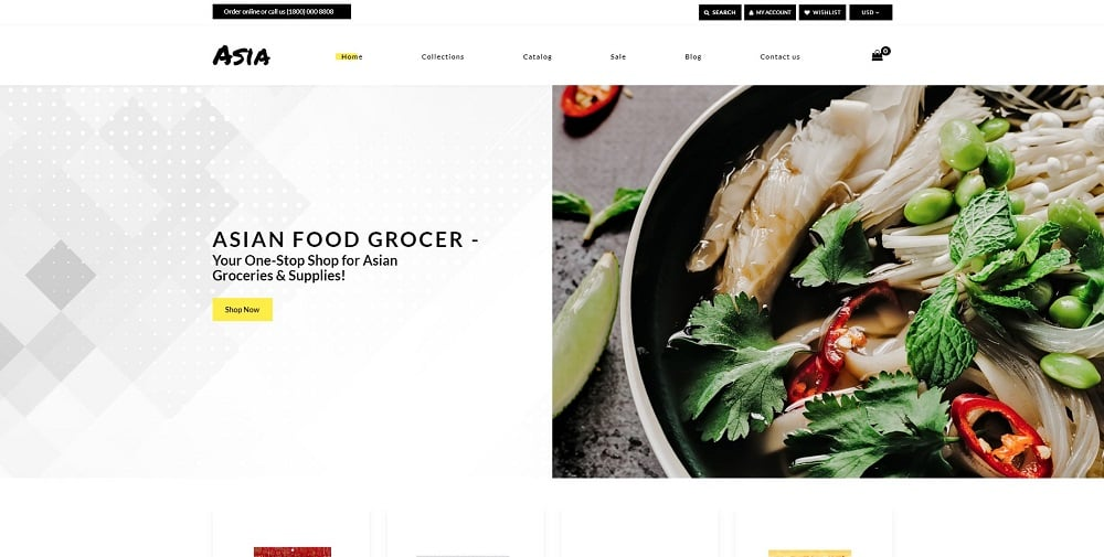 Asia - Asian Food Online Store Clean Shopify Theme