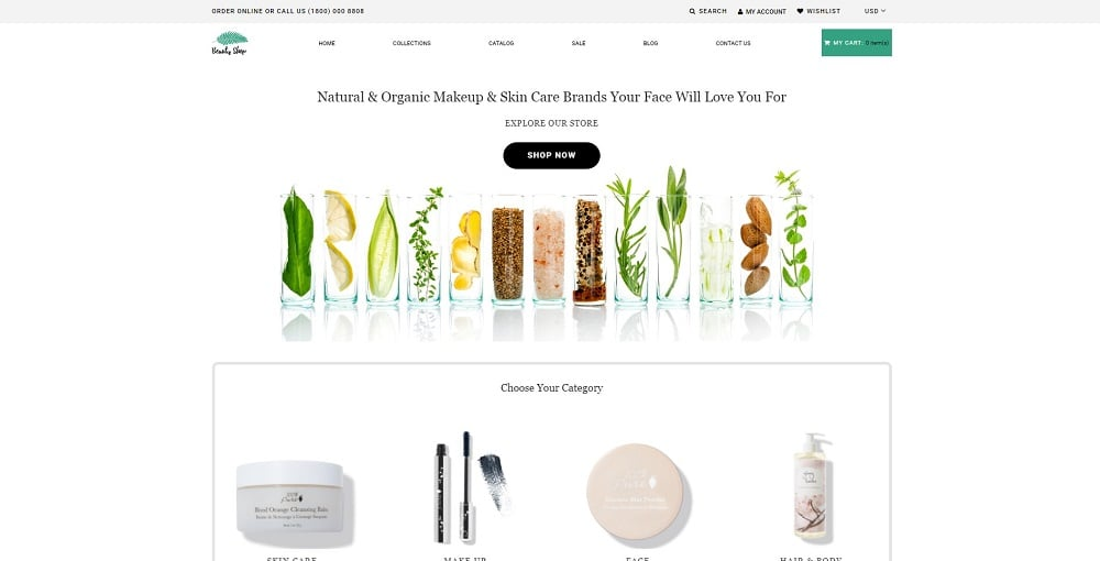 Beauty Shop - Cosmetics Store Multipage Modern Shopify Theme