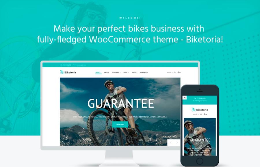 Biketoria- Bike Shop Elementor WooCommerce Theme