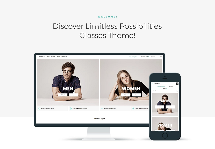 Blinky - Glasses Store ECommerce Minimal Elementor WooCommerce Theme