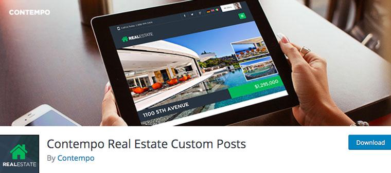 Contempo Real Estate Custom Posts.