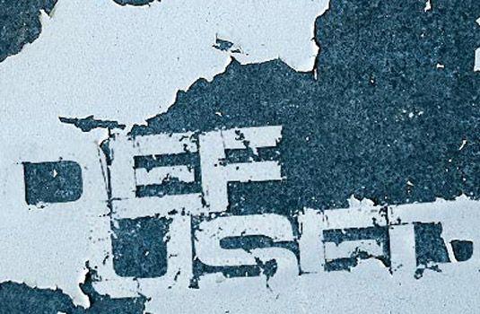 Defused grunge font.