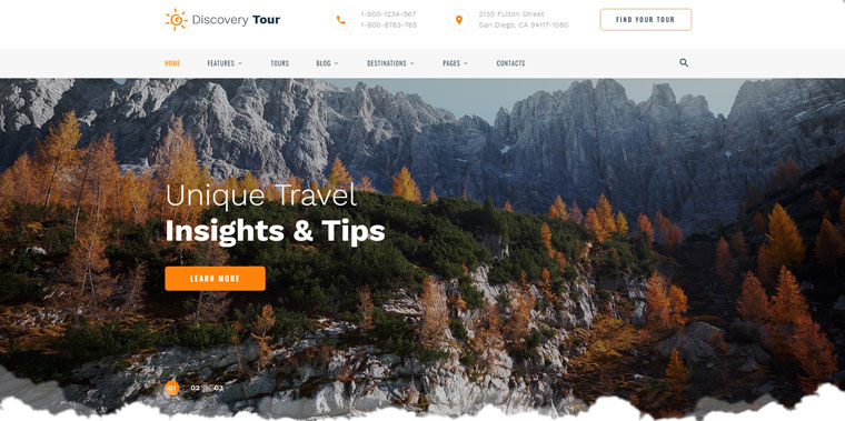 Discovery Tour - Travel Multipage Clean HTML Website Template.