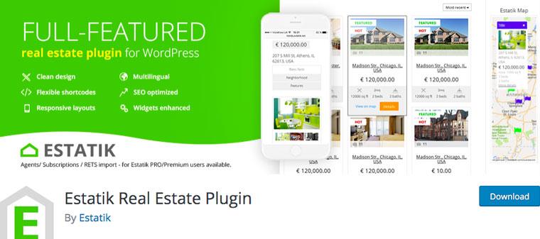 Estatik Real Estate Plugin.