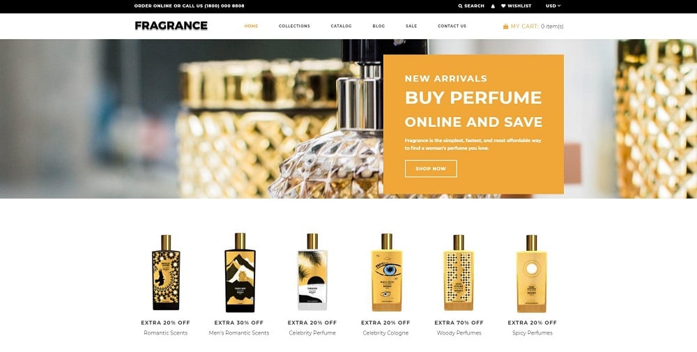 Fragrance - Beauty Elegant Shopify Theme