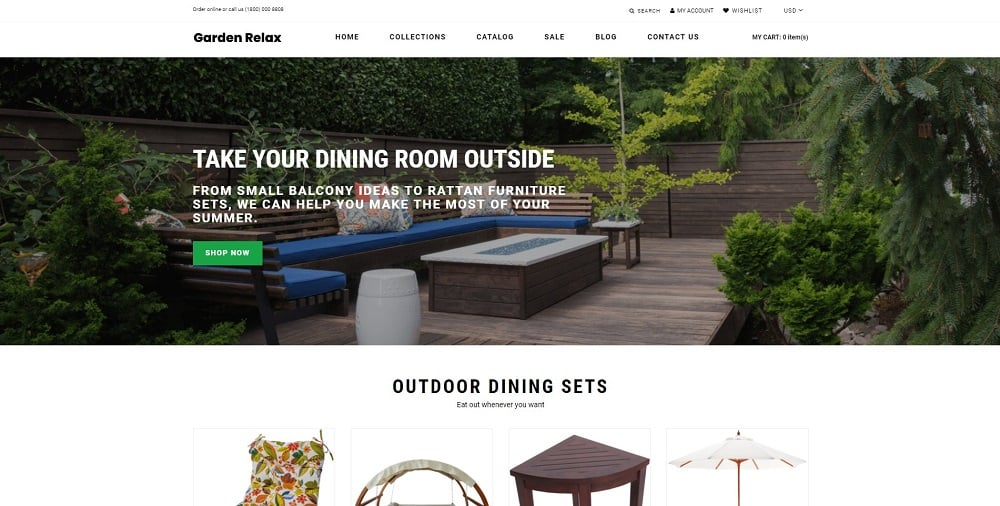 Garden Relax - Furniture Ready-To-Use Clean Shopify Theme