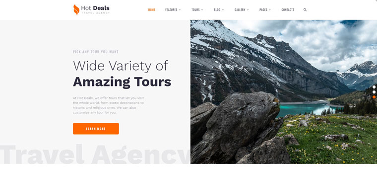 Hot Deals - Travel Agency Clean Multipage HTML Website Template.