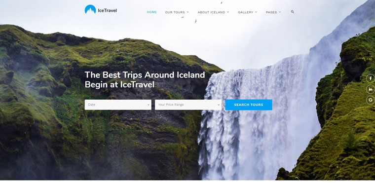 Ice Travel - Travel Agency Multipage Classic HTML5 Website Template.