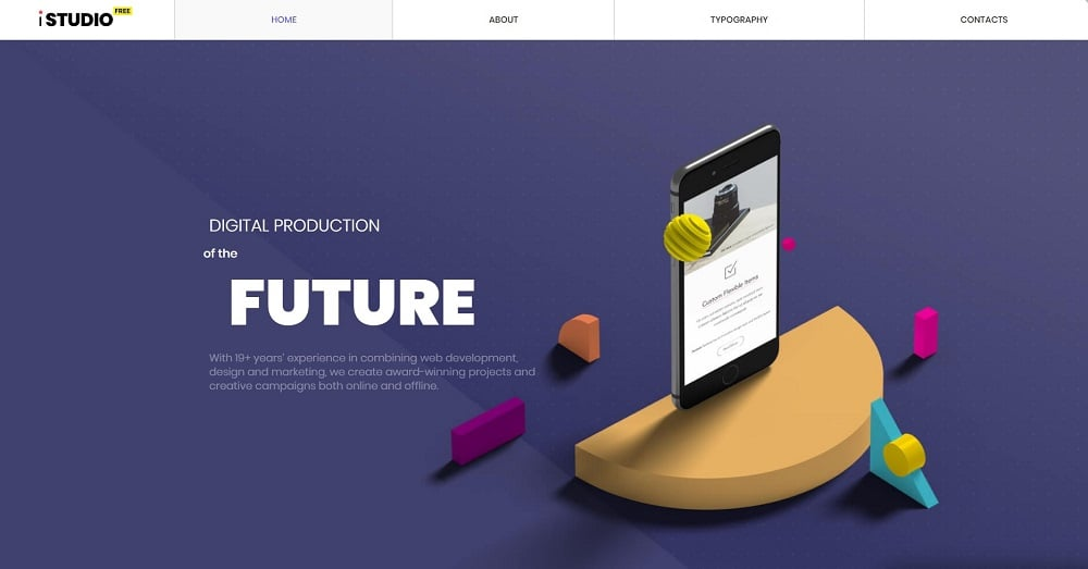 Free HTML5 Theme - Design Studio Website Template