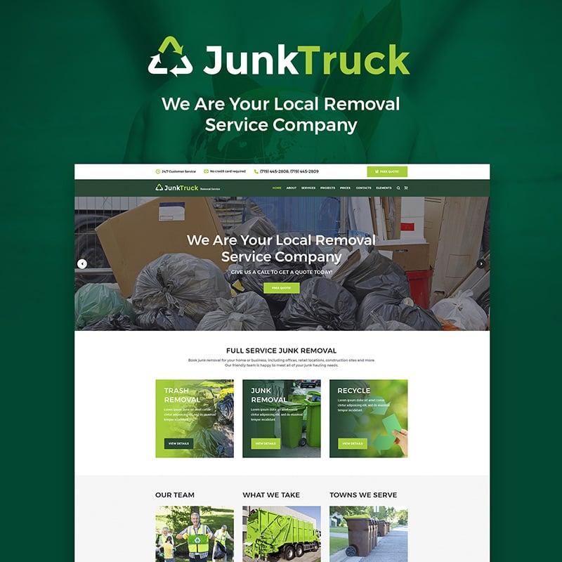 Garbage Removal Service WordPress Theme