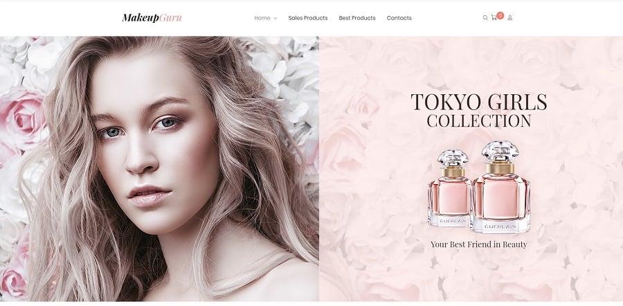 MakeupGuru - Cosmetic Store Elementor WooCommerce Theme