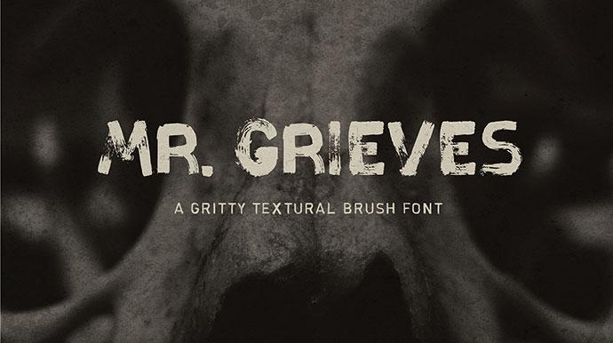Mr. Grieves font.