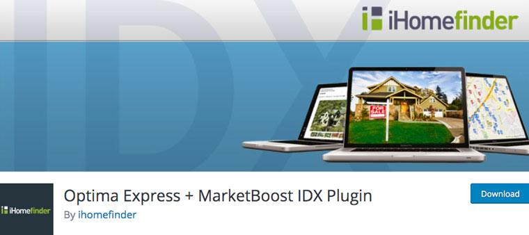 Optima Express + MarketBoost IDX Plugin.