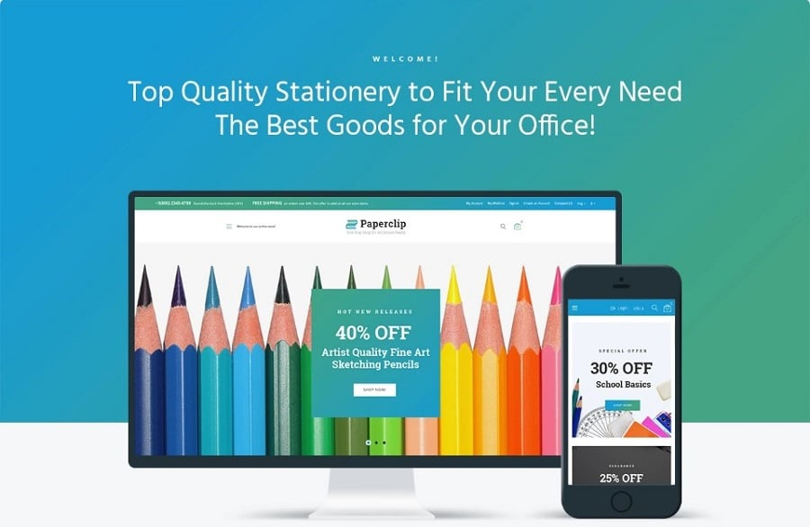 Paperclip - School Shop WooCommerce Theme