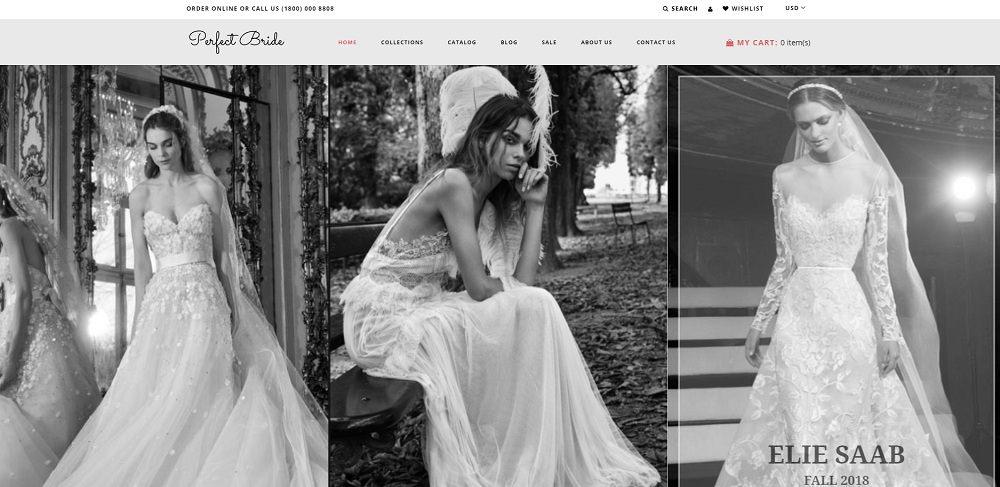 Perfect Bride - Sophisticated Wedding Online Store Shopify Theme