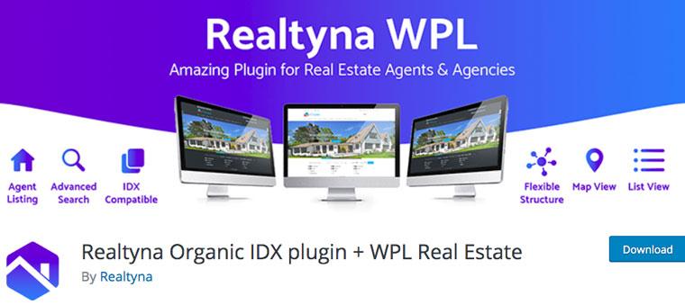 Realtyna Organic IDX plugin + WPL Real Estate.