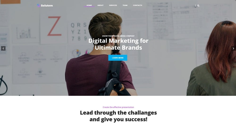 Solutem - Creative Agency Multipurpose Modern Elementor WordPress Theme