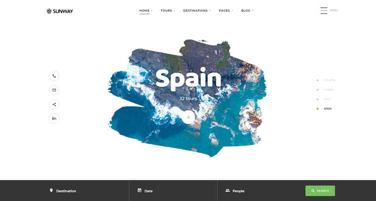Sunway - Travel Agency Multipurpose HTML Website Template.