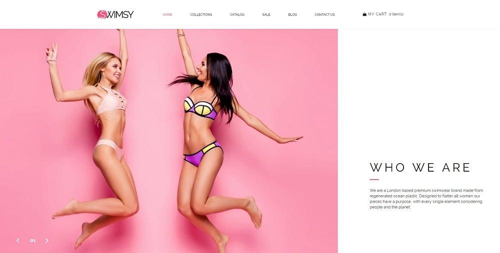 SWIMSY - Swimwear Stylish Shopify Theme
