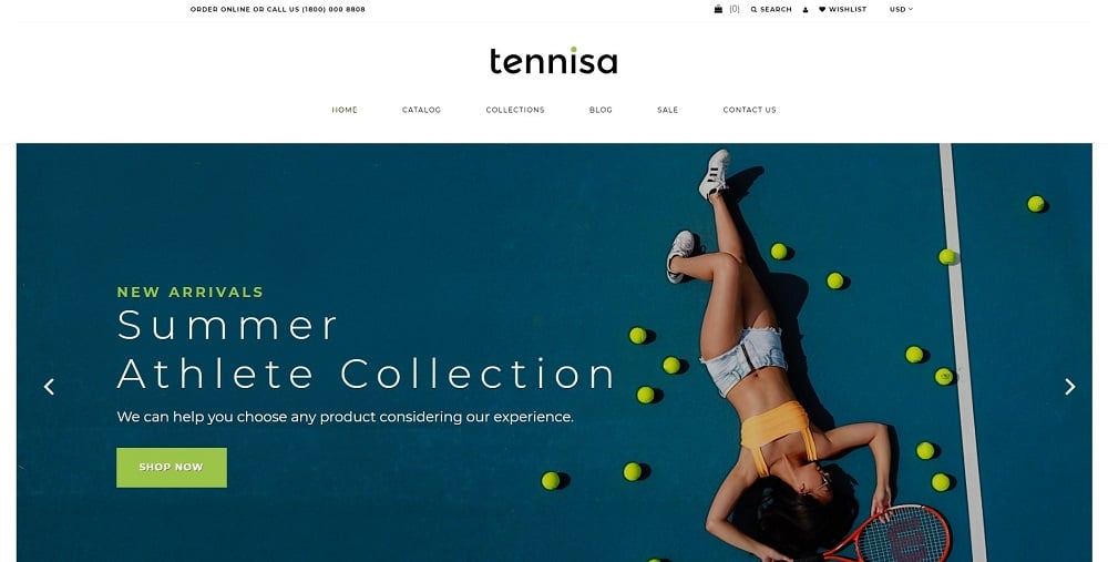 Tennisa - Tennis Store Clean Shopify Theme
