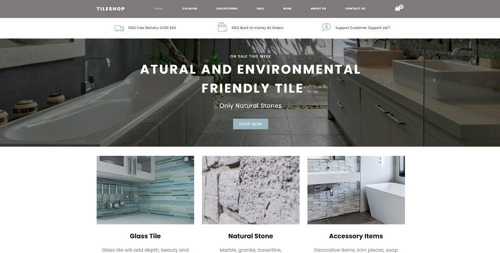 Tileshop - Interior & Furniture Clean Shopify Theme