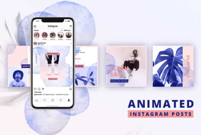 ANIMATED Instagram Posts Bold Social Media