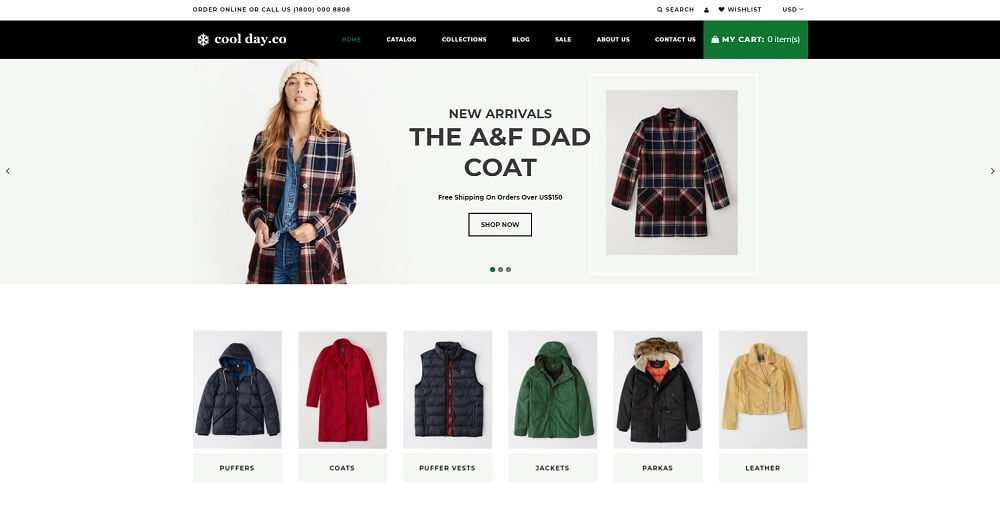 Cool Day.Co - Outerwear Store Shopify Theme