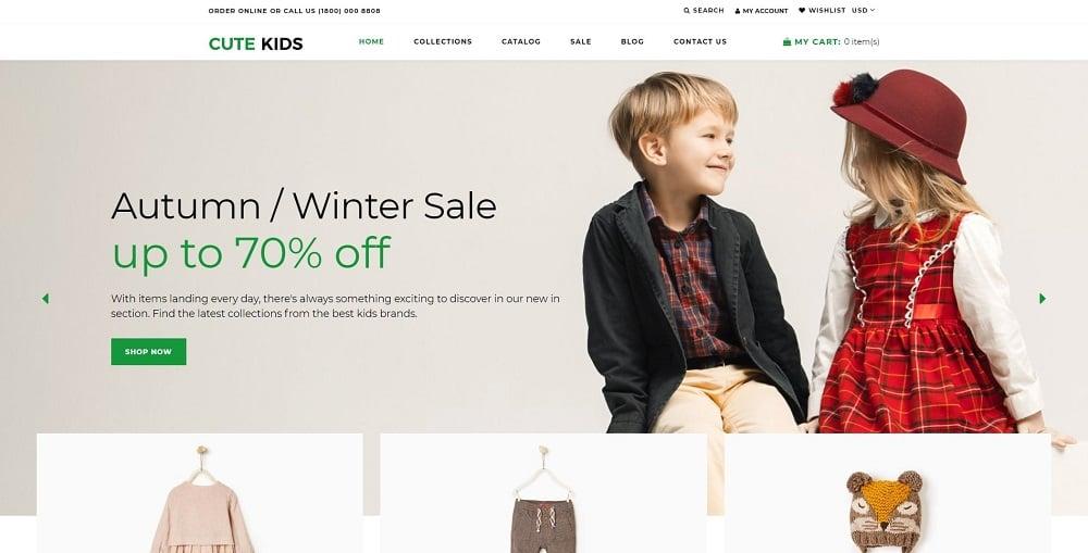 Cute Kids - Fashion Responsive Clean Shopify Theme