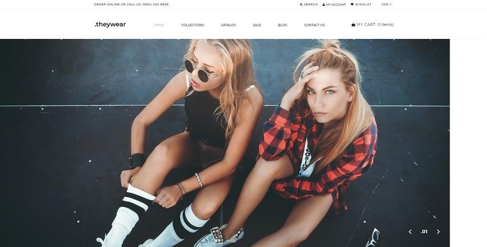 Theywear - T-shirt Shop Elegant Shopify Theme