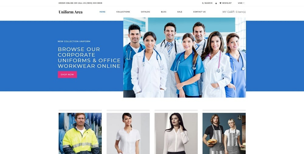 Uniform Area - Multipage Clean Shopify Theme