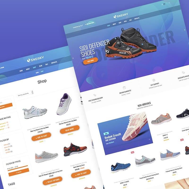 Sport Shoes Elementor WooCommerce Theme
