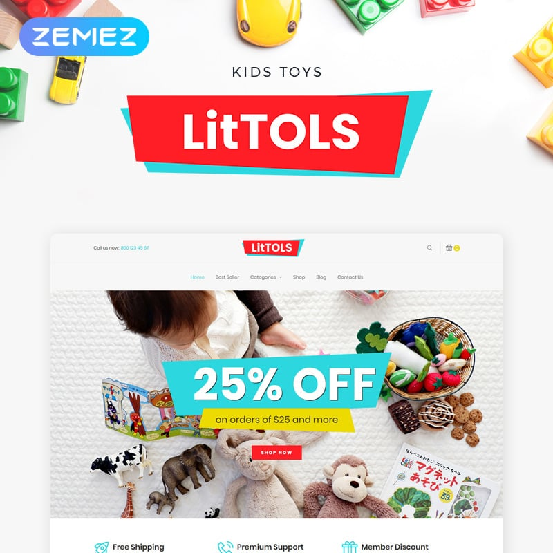 Toys & Games Store Elementor WooCommerce Theme