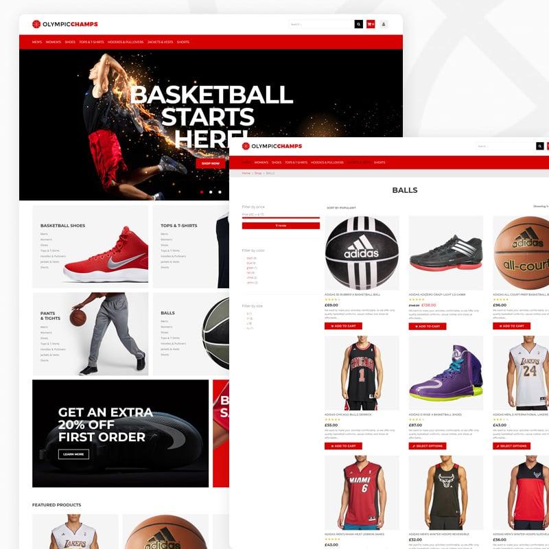 Basketball Stuff Elementor WooCommerce Theme