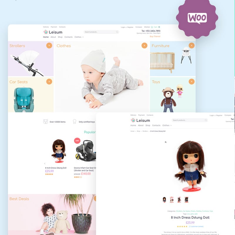 Kids Store eCommerce Minimal Elementor WooCommerce Theme