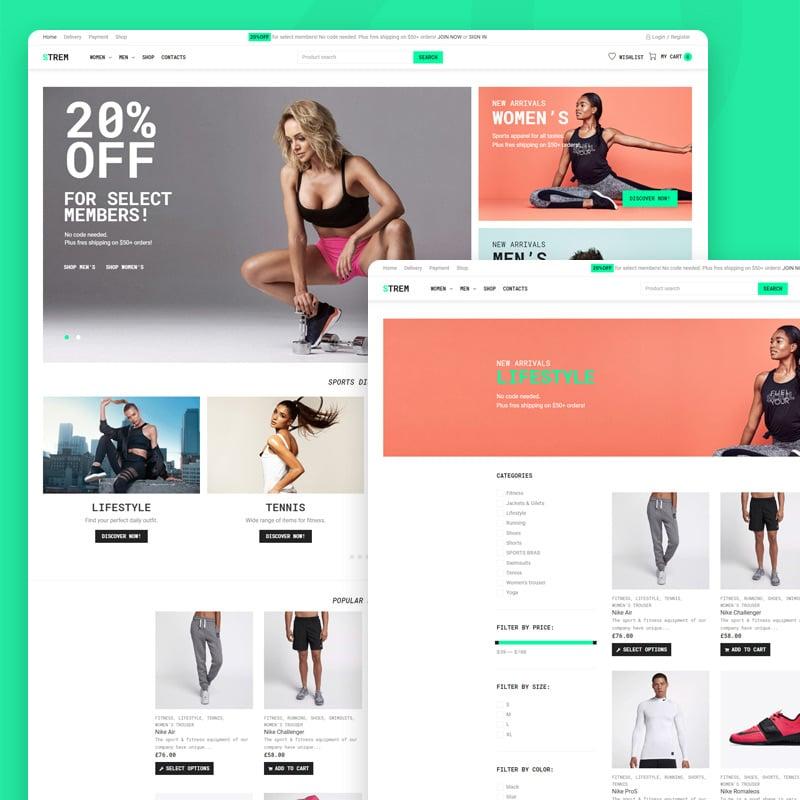 Sports Store eCommerce Minimal Elementor WooCommerce Theme
