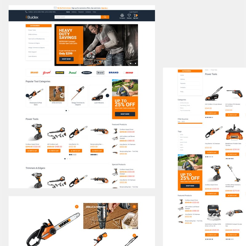 Tools eCommerce Classic Elementor WooCommerce Theme