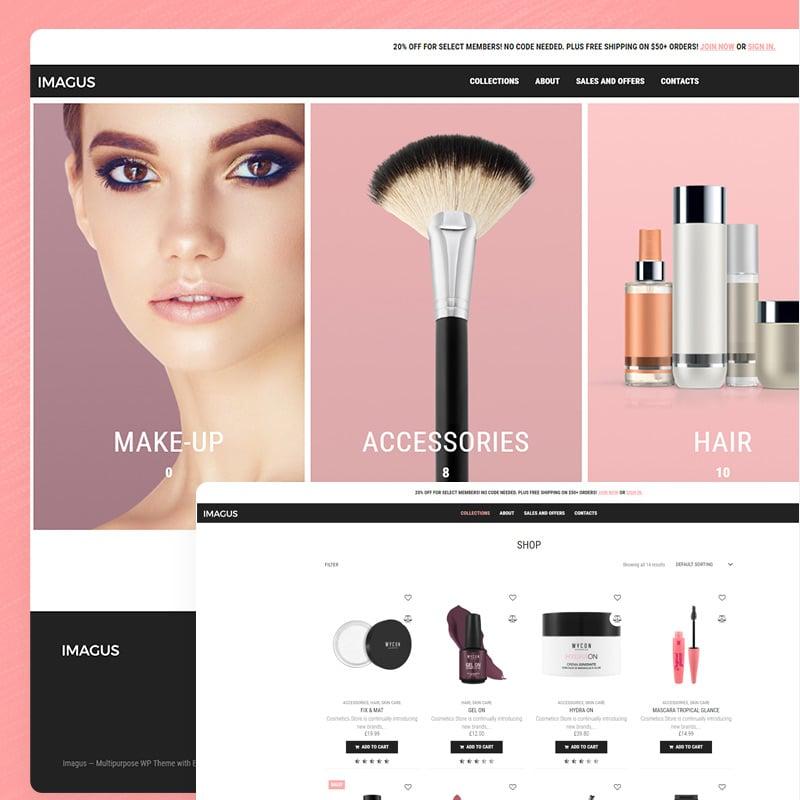 Cosmetics Store ECommerce Modern Elementor WooCommerce Theme