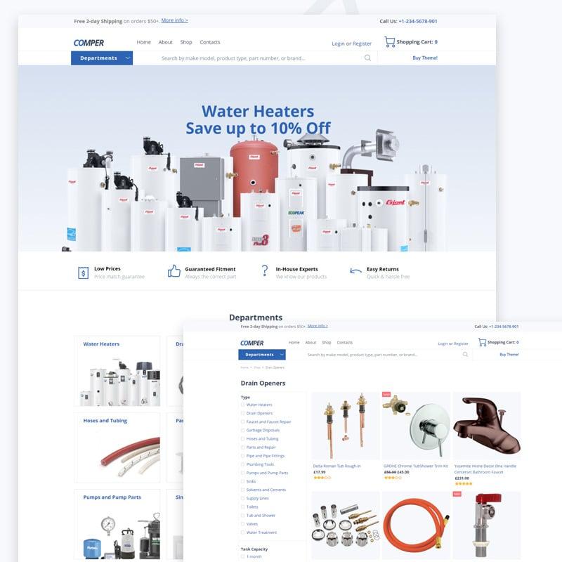 Plumbing eCommerce Classic Elementor WooCommerce Theme
