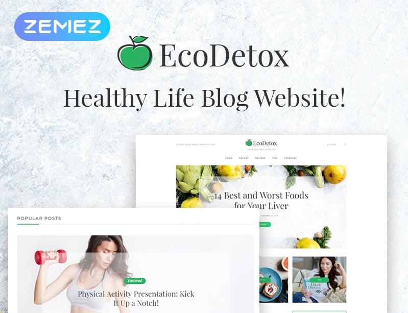 EcoDetox - Healthy Food Blog Elementor WordPress Theme