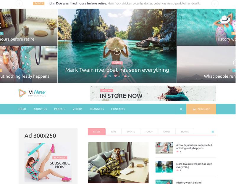 Vinews - Modern Media Portal WordPress Theme